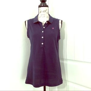 Lilly Pulitzer Navy Polo Tank Top Size Large